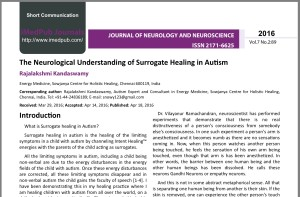 Surrogate Healing In Autism